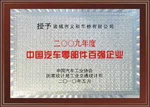 2009年中国汽车零部件百强企业