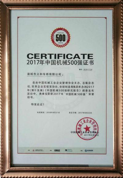 2017中国机械500强b